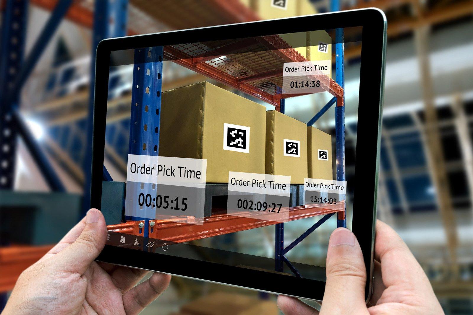Alt :  Temps de préparation de commandes visible sur tablette